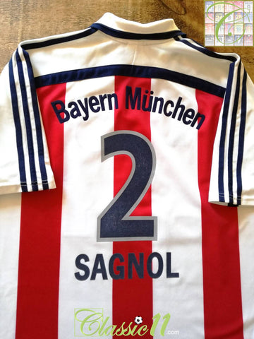 2000/01 Bayern Munich Away Football Shirt Sagnol #2 (XL)