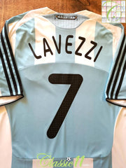 2007/08 Argentina Home Football Shirt Lavezzi #7 (XL)