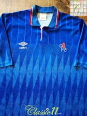 1989/90 Chelsea Home Football Shirt (L)