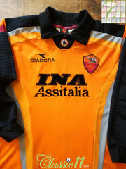 1998/99 Roma Goalkeeper Football Shirt (M)