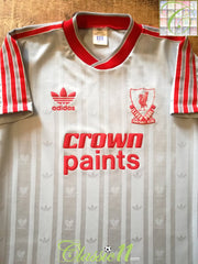 1987/88 Liverpool Away Football Shirt (S)