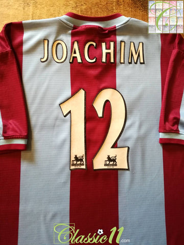 1999/00 Aston Villa Home Premier League Football Shirt Joachim #12 (L)