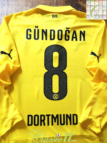 2014/15 Borussia Dortmund Home European Football Shirt. Gündoğan #8 (M)