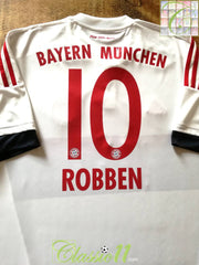 2015/16 Bayern Munich Away Football Shirt Robben #10 (XXL)