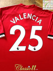 2017/18 Man Utd Home Premier League Football Shirt Valencia #25 (XXL)