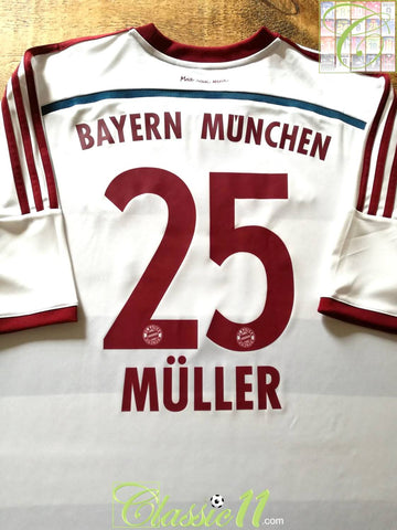 2014/15 Bayern Munich Away World Champions Football Shirt Müller #25 (XXL)