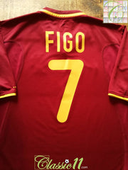 2000/01 Portugal Home Football Shirt Figo #7 (M)