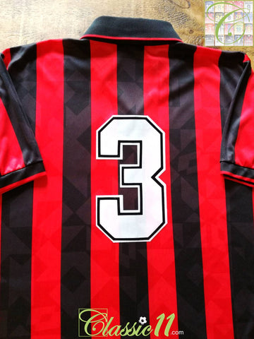 1993/94 AC Milan Home Football Shirt Maldini #3 (L)