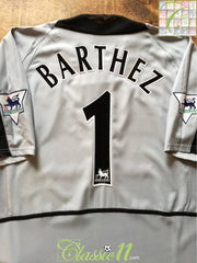 2002/03 Man Utd Goalkeeper Premier League Football Shirt Barthez #1 (XL)