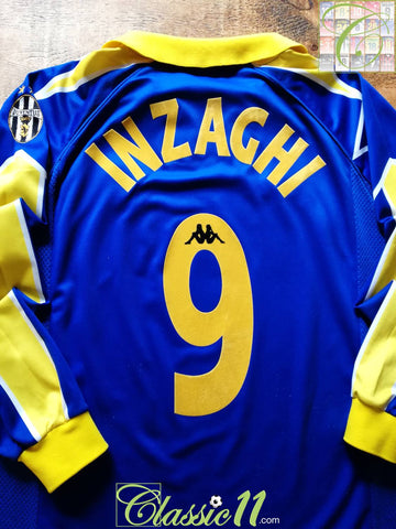 1997/98 Juventus 3rd Serie A Football Shirt. Inzaghi #9 (L)