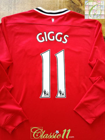 2011/12 Man Utd Home Premier League Football Shirt. Giggs #11 (L)