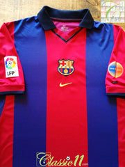 2000/01 Barcelona Home La Liga Football Shirt (L)