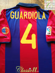 2000/01 Barcelona Home La Liga Football Shirt Guardiola #4 (L)