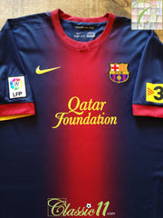 2012/13 Barcelona Home La Liga Football Shirt (XL)