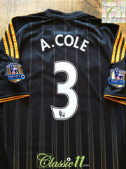 2010/11 Chelsea Away Premier League Football Shirt A. Cole #3 (L)