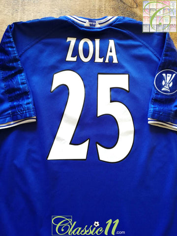 2000/01 Chelsea Home UEFA Cup Football Shirt Zola #25 (XL)