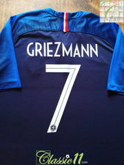 2018 France Home Football Shirt Griezmann #7 (XXL)