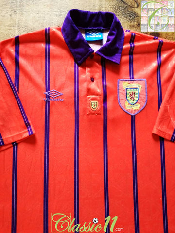 1993/94 Scotland Away Football Shirt (XXL)