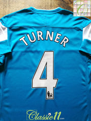 2011/12 Sunderland Away Premier League Football Shirt Turner #4 (M)