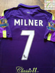 2014/15 Man City 3rd Premier League Football Shirt Milner #7 (L)