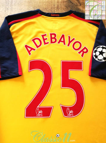 2008/09 Arsenal Away Football Shirt Adebayor #25 (XL)