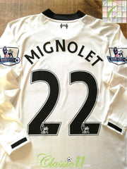 2013/14 Liverpool Goalkeeper Premier League Football Shirt Mignolet #22 (S)