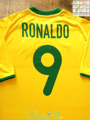 2000/01 Brazil Home Football Shirt Ronaldo #9 (XL)