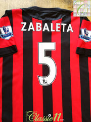 2011/12 Man City Away Premier League Football Shirt Zabaleta #5 (L)