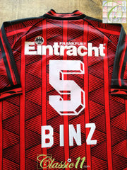 1995/96 Eintracht Frankfurt Home Football Shirt Binz #5 (L)