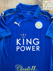 2016/17 Leicester City Home Football Shirt (S)