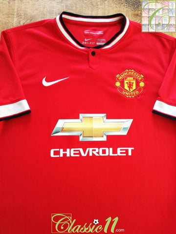 2014/15 Man Utd Home Football Shirt (M)