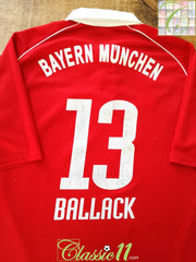 2005/06 Bayern Munich Home Football Shirt Ballack #13 (XL)