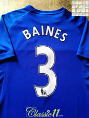 2010/11 Everton Home Premier League Football Shirt Baines #3 (M)