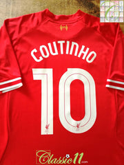2013/14 Liverpool Home Football Shirt Coutinho #10 (XL)