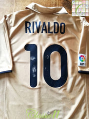 2001/02 Barcelona Away La Liga Football Shirt Rivaldo #10 (XXL)