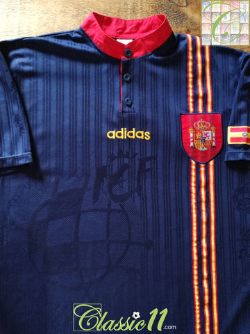 1996/97 Spain Away Football Shirt (L)