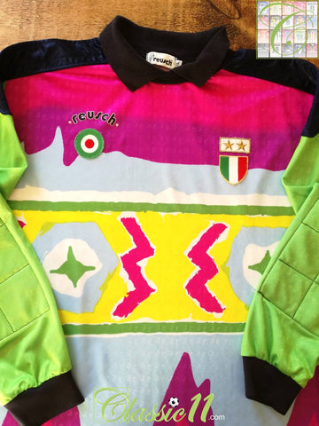 1992/93 Juventus Goalkeeper Serie A Football Shirt Peruzzi #1 (XL)