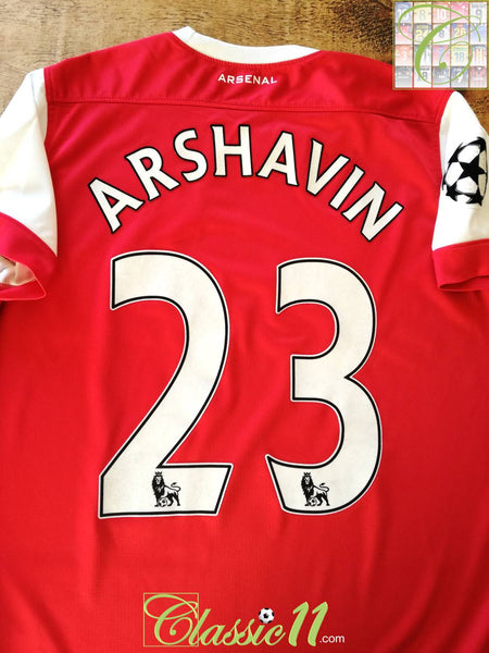 huge selection of ad2ff 2cd80 2010/11 Arsenal Home Football Shirt Arshavin #23 / Nike ...