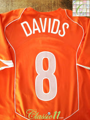 2004/05 Netherlands Home Football Shirt Davids #8 (L)