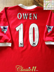 1998/99 Liverpool Home Premier League Football Shirt Owen #10 (XXL)
