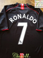 2007/08 Man Utd Away Premier League Football Shirt Ronaldo #7 (XL)