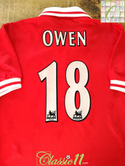 1997/98 Liverpool Home Premier League Football Shirt Owen #18 (S)
