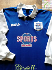 1998/99 Cardiff City Home Football Shirt. (L)