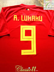 2018/19 Belgium Home Football Shirt R. Lukaku #9 (XL)