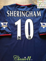 2003/04 Portsmouth Away Premier League Football Shirt Sheringham #10 (XXL)