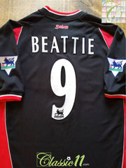 2001/02 Southampton Away Premier League Football Shirt Beattie #9 (XL)