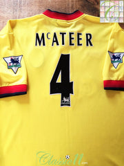 1997/98 Liverpool Away Premier League Football Shirt McAteer #4 (L)