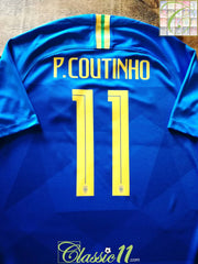 2018/19 Brazil Away Football Shirt P. Coutinho #11 (M)