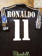 2002/03 Real Madrid Away Champions League Football Shirt Ronaldo #11 (M)