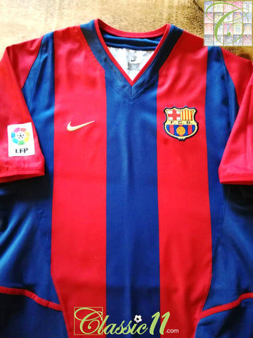 2002/03 Barcelona Home La Liga Football Shirt (L)